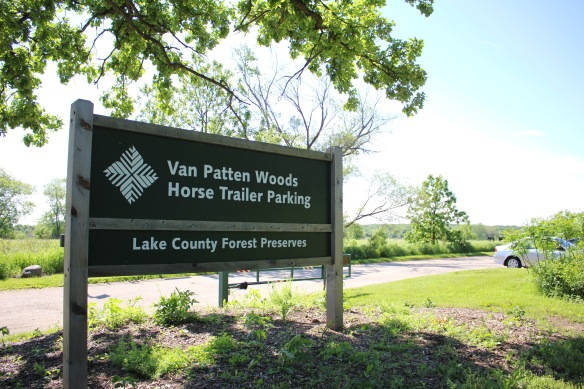 The Des Plaines River Trail and Greenway begins off Russell Road at the Van Patten Woods Horse Trailer Parking. Photo © LCFPD