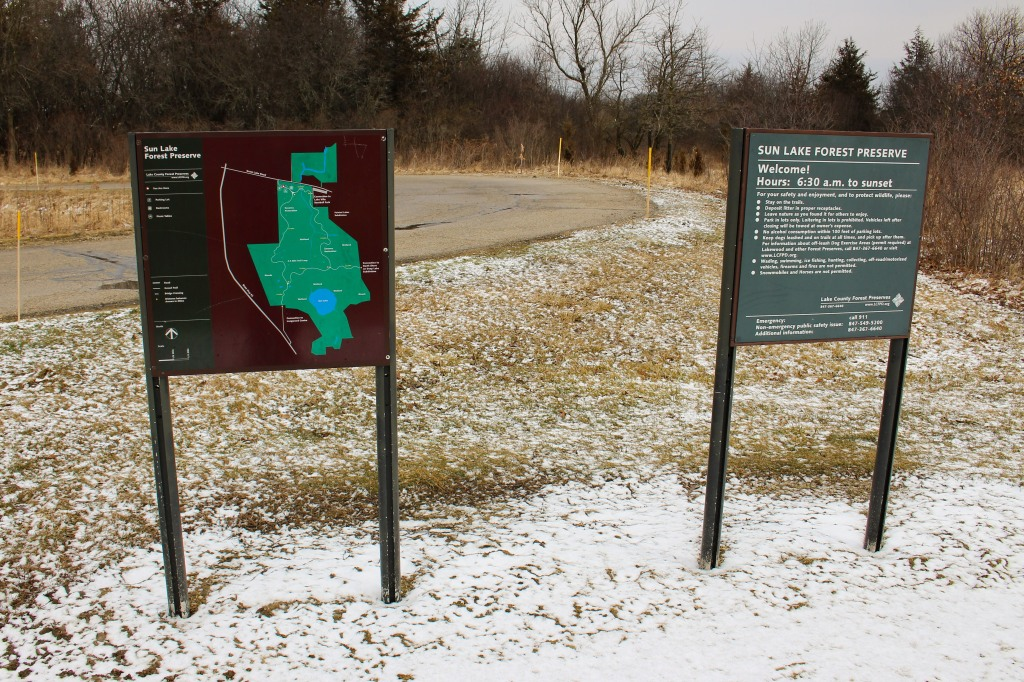 Always look at the trail map before you go. Photo © Lake County Forest Preserves.